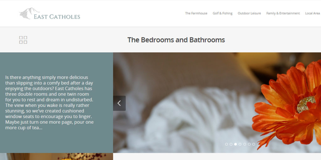 web content for luxury holiday house in Lake District